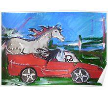12-12-12 - A Ferrari with handbrake off... Poster