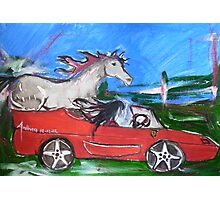 12-12-12 - A Ferrari with handbrake off... Photographic Print