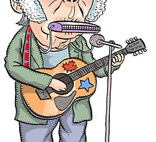 Neil Young by MacKaycartoons