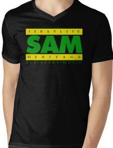 SAM GREEN YELLOW(Plain 1) Mens V-Neck T-Shirt