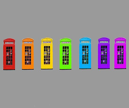 Rainbow Phone boxes  by Zozzy-zebra