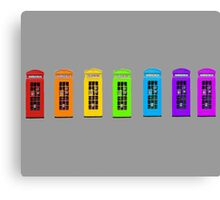 Rainbow Phone boxes  Canvas Print