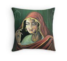 Punjabi Bride Throw Pillow