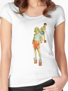 The Simple Life : Tin Can Stilts Women's Fitted Scoop T-Shirt