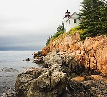 Stormy Cliffside Scenic Lighthouse by Sarah Van Geest
