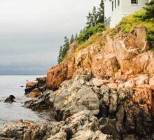 Stormy Cliffside Scenic Lighthouse Sticker