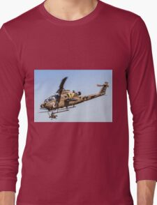 Israeli Air force (IAF) helicopter, Bell AH-1 Cobra in flight Long Sleeve T-Shirt