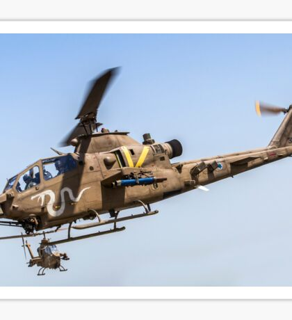 Israeli Air force (IAF) helicopter, Bell AH-1 Cobra in flight Sticker