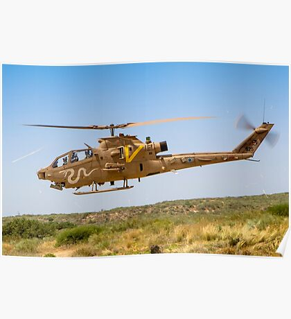 Israeli Air force (IAF) helicopter, Bell AH-1 Cobra in flight Poster