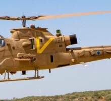 Israeli Air force (IAF) helicopter, Bell AH-1 Cobra in flight Sticker
