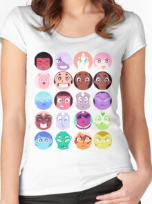 Steven Universe - (Updated) Cast Pattern! Women's Fitted Scoop T-Shirt
