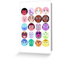Steven Universe - (Updated) Cast Pattern! Greeting Card