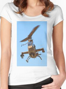 Israeli Air force (IAF) helicopter, Bell AH-1 Cobra in flight Women's Fitted Scoop T-Shirt