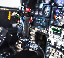 Bell AH-1 Cobra(Tzefa) view of the cockpit and controls  by PhotoStock-Isra