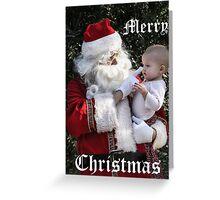 Santa in California! Greeting Card