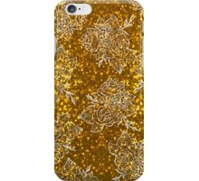 Gold Glitter and White Roses iPhone Case/Skin