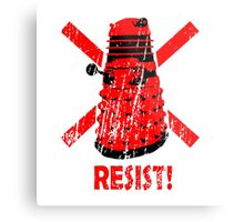 Resist the Daleks! Metal Print