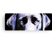 Black Labrador Retriever Dog Art - Lab Eyes Canvas Print