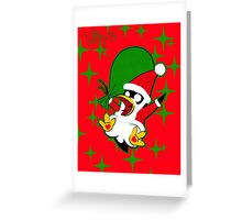 Hippo the Christmas Penguin! Greeting Card
