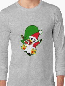 Hippo the Christmas Penguin! Long Sleeve T-Shirt