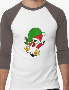Hippo the Christmas Penguin! Men's Baseball ¾ T-Shirt