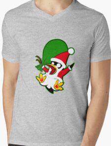 Hippo the Christmas Penguin! Mens V-Neck T-Shirt