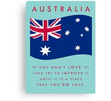 STRAYA - LOVE IT Canvas Print