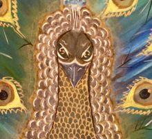 mesmerizing peacock Sticker
