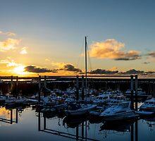 Sunset at the marina by Ólafur Már Sigurðsson