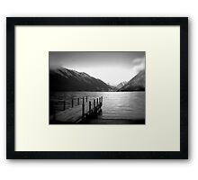 Lake Rotoiti, New Zealand b/w Framed Print