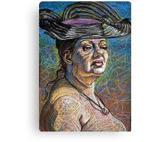 Aviva with Hat Canvas Print