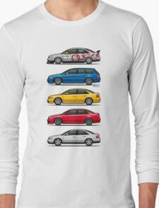 Stack of Audi A4 B5 Type 8d Long Sleeve T-Shirt