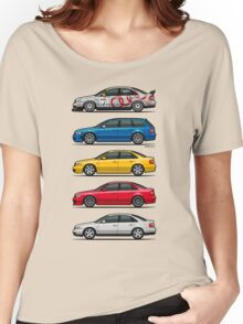 Stack of Audi A4 B5 Type 8d Women's Relaxed Fit T-Shirt