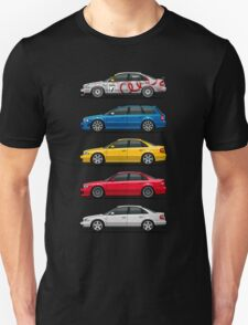 Stack of Audi A4 B5 Type 8d Unisex T-Shirt