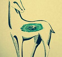 Eye Deer Buck by MargTheArtist