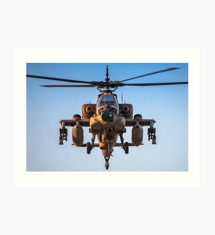 Apache AH-64A (Peten) Helicopter in flight Art Print