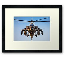 Apache AH-64A (Peten) Helicopter in flight Framed Print