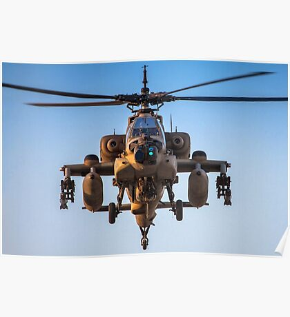 Apache AH-64A (Peten) Helicopter in flight Poster