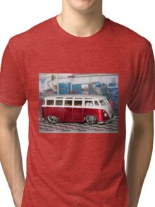 VW BUS red low and cool Tri-blend T-Shirt