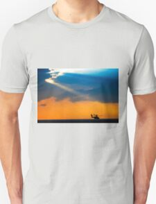 Apache AH-644 Longbow (Seraph) Helicopter at sunset T-Shirt