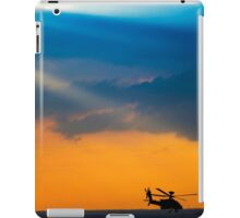 Apache AH-644 Longbow (Seraph) Helicopter at sunset iPad Case/Skin