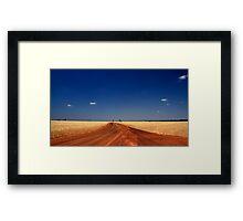 Red Dirt And Golden Grain #2 Framed Print