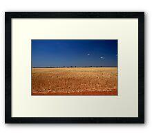 Red Dirt And Golden Grain #3 Framed Print
