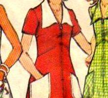 Butterick Pattern 3068 : Circa Late 60's / Early 70's Sticker