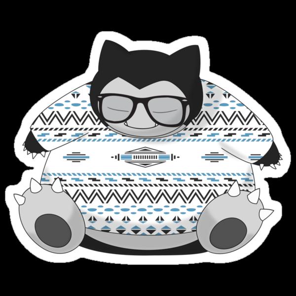 Hipster Snorlax by jdotrdot712