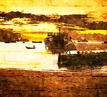 Sunset over Stone Town Port by Amyn Nasser