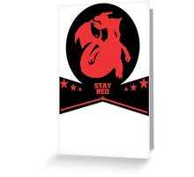 pokemon stay red charizard  Greeting Card