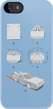 Origami DeLorean by Vincent Carrozza