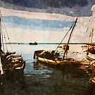 Dhow Sailing Boats by Amyn Nasser