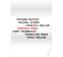 Character Names - F.R.I.E.N.D.S Poster